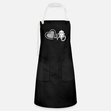 Fire Fighter Fire Fighter Fire Fighter Heartbeat - Artisan Apron