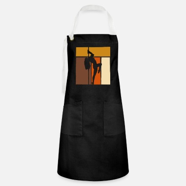 Burlesque Retro Pole Dancing | Poledance fitness dancer - Artisan Apron
