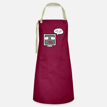 Exhausted Computer - Funny Computer - Artisan Apron