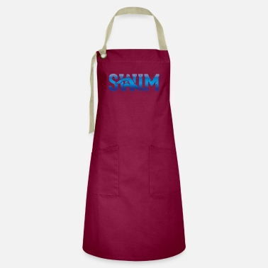 Swimming World Championship Outline of a swimmer - swimming - Artisan Apron