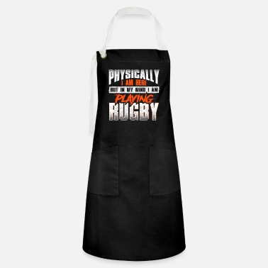 Crazy rugby saying - rugby - Artisan Apron