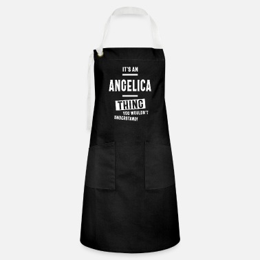 Name Day Angelica Personalized Name Birthday Gift - Artisan Apron
