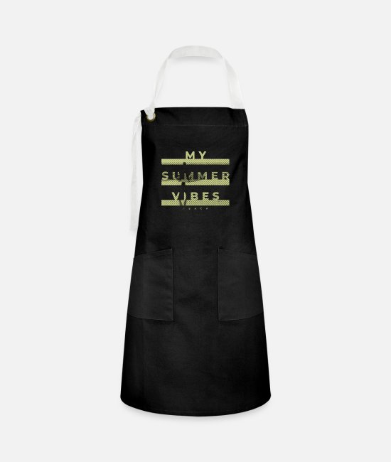 2019 Aprons - My Summer Vibes gift idea - Artisan Apron black/white