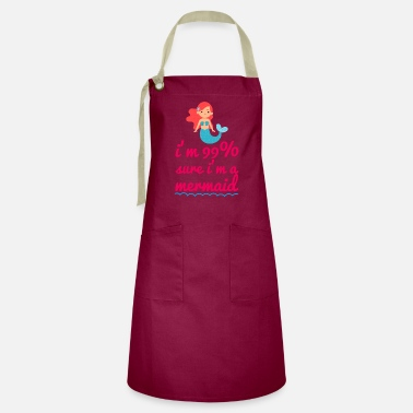 Shack Mermaid cute comic mood - Artisan Apron
