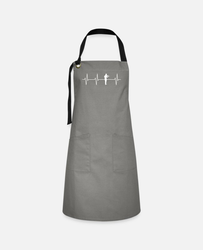 Chain Aprons - My Heart Beats For Violin - Artisan Apron grey/black
