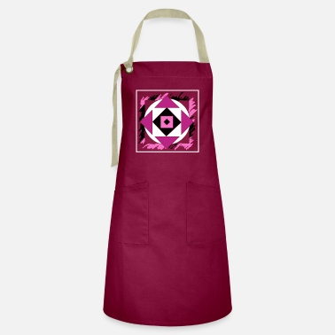 Hexagon Pink abstract art - Artisan Apron