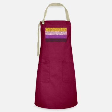 Faded Distressed Non Binary Trans Gender Flag - Artisan Apron