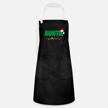 Loves Christmas Auntie Aunt Xmas Apparel - Artisan Apron