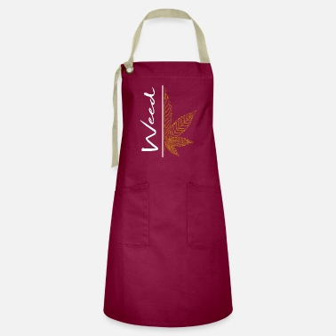 Clothes Weed / cannabis / cannabis leaf / hemp / smoking - Artisan Apron