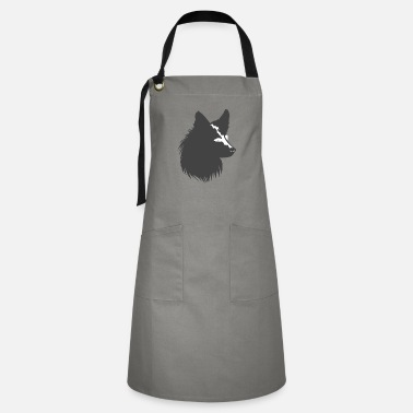 Long Hair Collie long hair collie silhouette, dogs - Artisan Apron