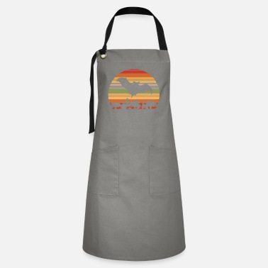 Keeper Flying Dog And Field Mouse Silhouette - Artisan Apron