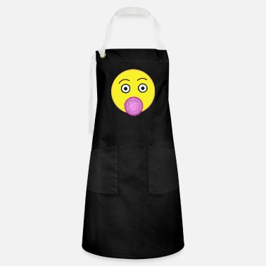 Emoji with chewing gum - Artisan Apron