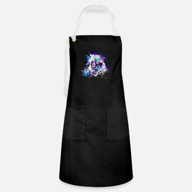Colour Skull Design (Colour Splash) 02 - Artisan Apron