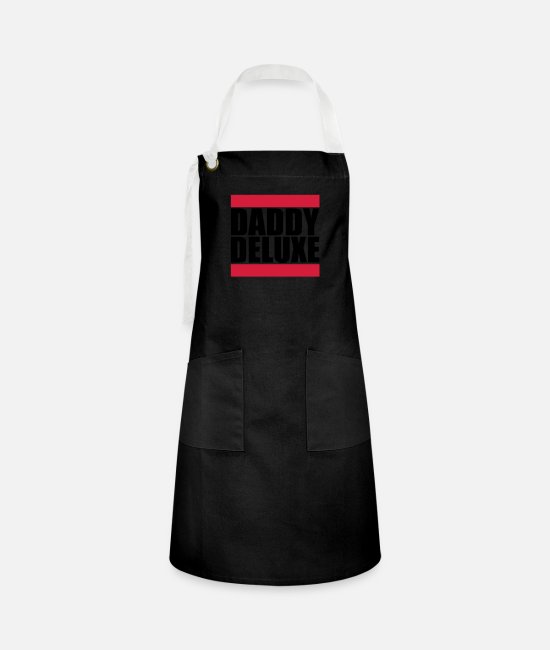 Father's Day Aprons - Daddy Deluxe - Artisan Apron black/white