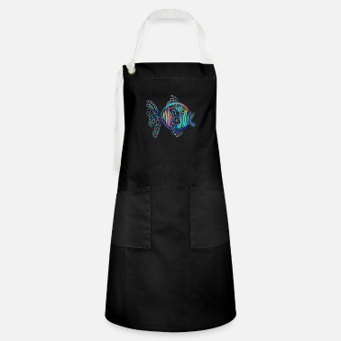 Tropical Fish abstract tropical fish - Artisan Apron