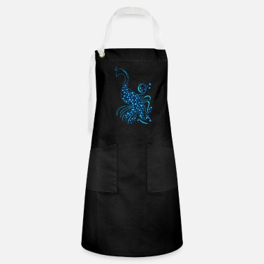 Stylized Animal stylized peacock with circles - Artisan Apron