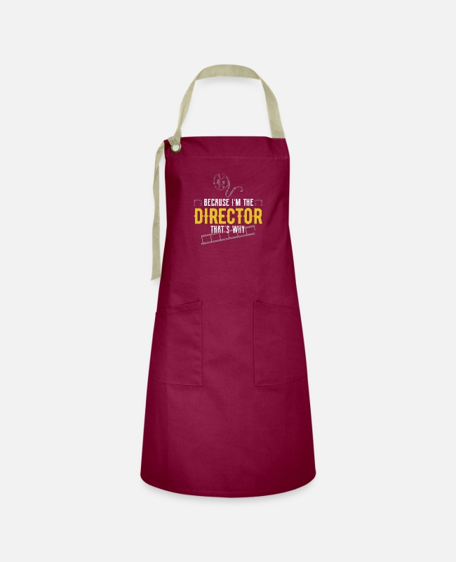 Artist Aprons - Actor Theater Actress Stage Musical - Artisan Apron burgundy / desert sand