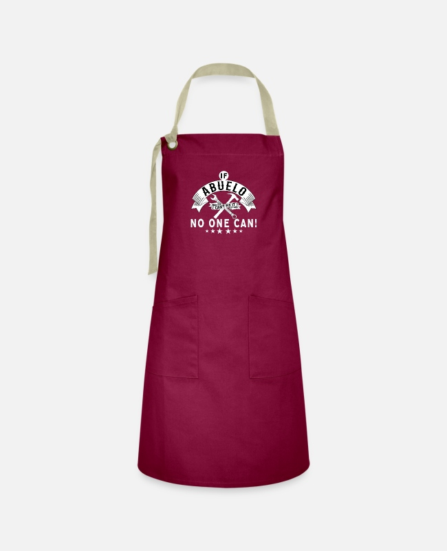 Aprons - IF ABUELO CAN'T FIX IT! - Artisan Apron burgundy / desert sand