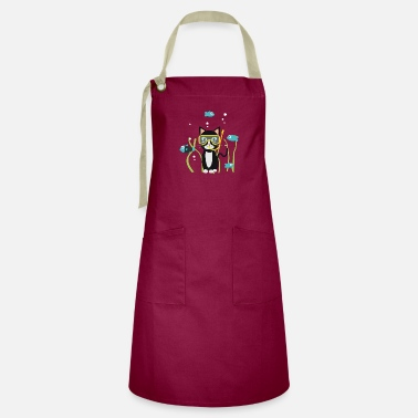 Underwater Diving Underwater diving cat with fish - Artisan Apron