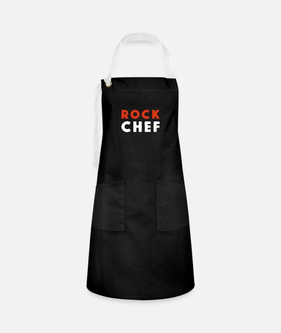 Blues Music Aprons - ROCK CHEF! Music is the food of love! - Artisan Apron black/white