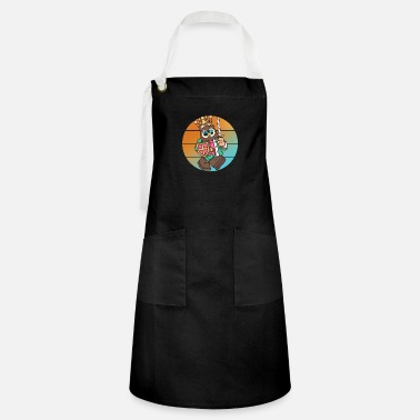 Kid Eagle bird knight comic cartoon - Artisan Apron