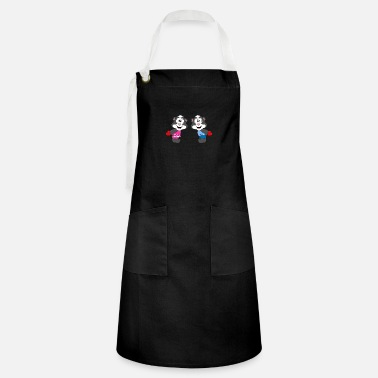 Hen Funny skunks - hearts - love - love - animals - Artisan Apron