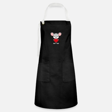I Heart Funny mouse - heart - love - love - kids - fun - Artisan Apron