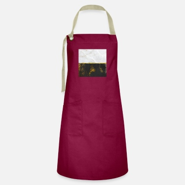 Black And Gold Gold Black Marble Abstract - Artisan Apron