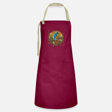 Kingfisher Colorful bird - Artisan Apron