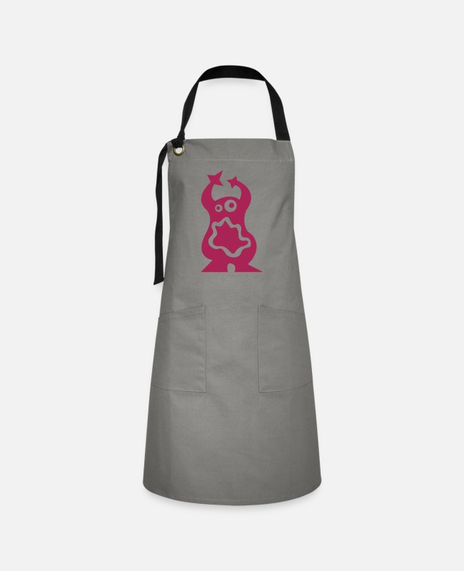 Pregnancy Aprons - Monster - Artisan Apron grey/black