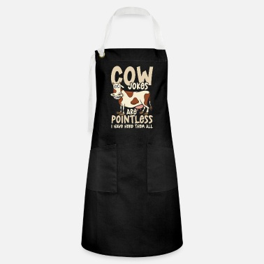 Cow Jokes Are Pointless I Have Herd Them All - Artisan Apron