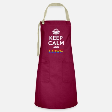 Sultry Keep Calm And Love - Gay -EN - Artisan Apron