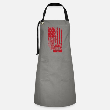 Transporter USA Trucker Truck Driver Professional Driver Gift - Artisan Apron