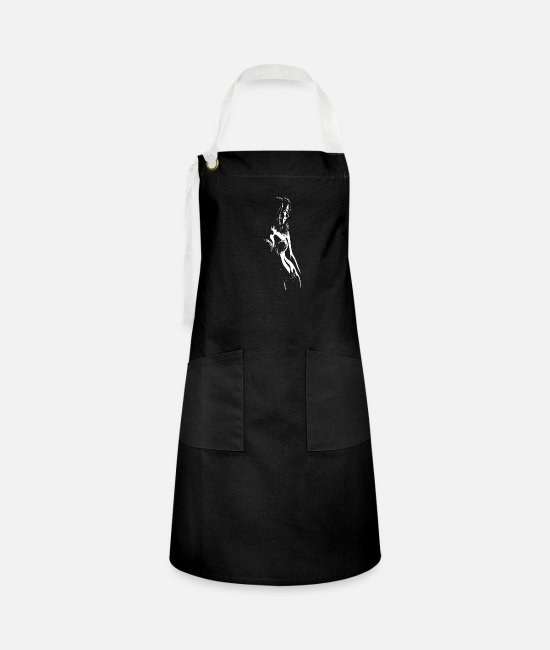 Shadows Aprons - Sexy shadows - Artisan Apron black/white