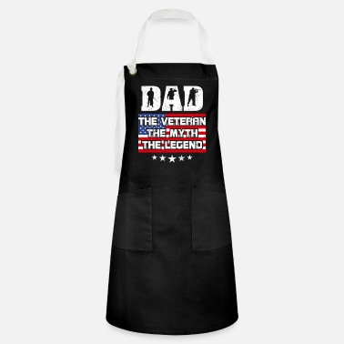 Legend Dad Veteran Myth Legend Great Gift Husband Father - Artisan Apron