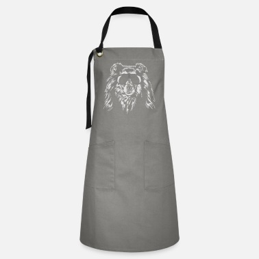 Long Hair Collie Long haired COLLIE - ROUGH COLLIE cool Wilsigns dogs - Artisan Apron