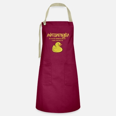 Phobia Anatidaephobia - fear of ducks - Artisan Apron