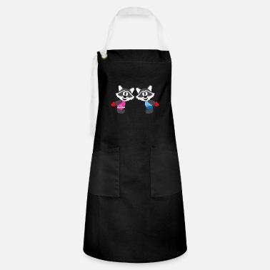 Heart Raccoons - Hearts - Love - Love - Animals - Artisan Apron