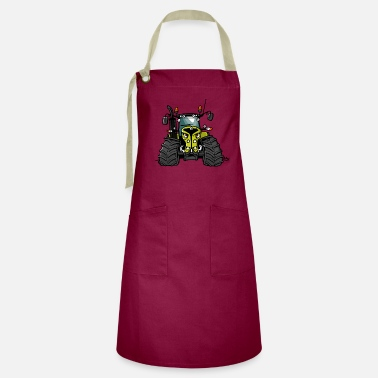 0300 light green tractor - Artisan Apron