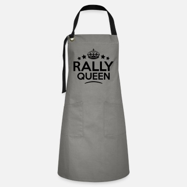 rally queen keep calm style copy - Artisan Apron