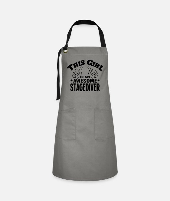 Water Aprons - this girl is an awesome stagediver - Artisan Apron grey/black