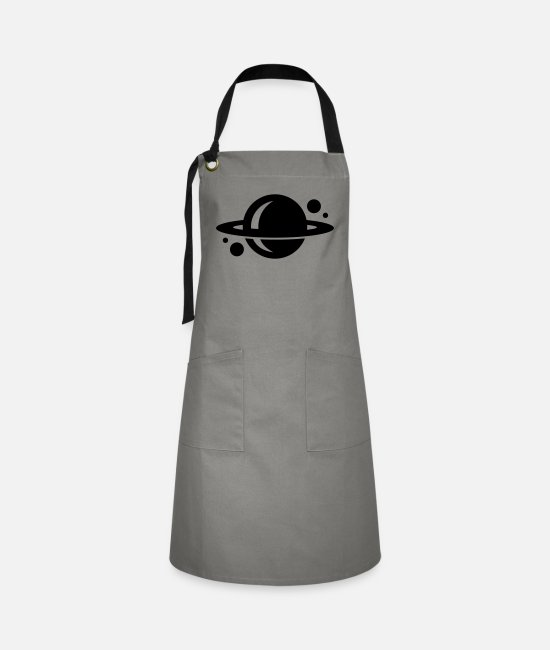 Milky Way Aprons - planet - Artisan Apron grey/black