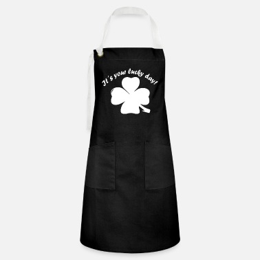 New Year's Day Shamrock, Lucky Day, New Year, New Year's Eve - Artisan Apron