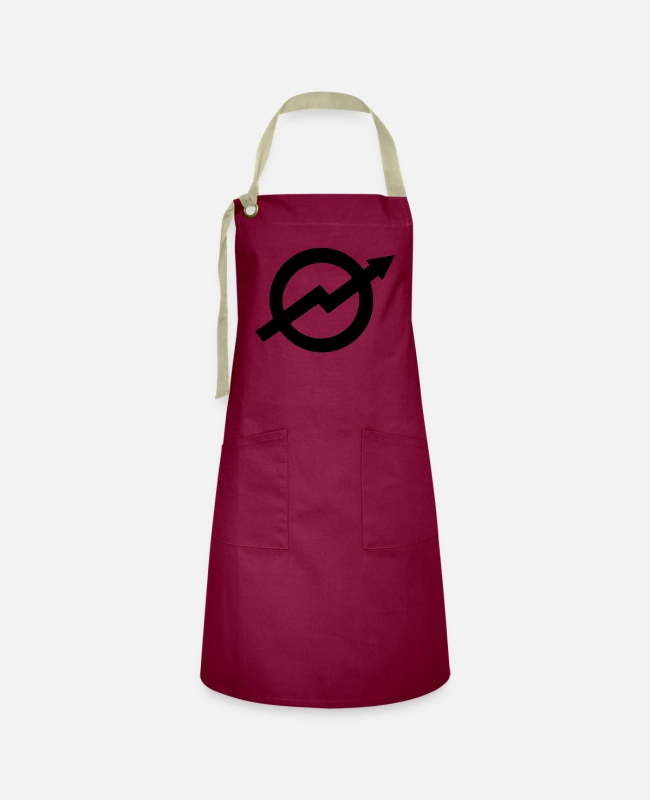 New Aprons - Occupied - Squat - Squatting - Artisan Apron burgundy / desert sand