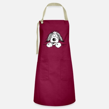 Collie Happy Bearded Collie - Artisan Apron