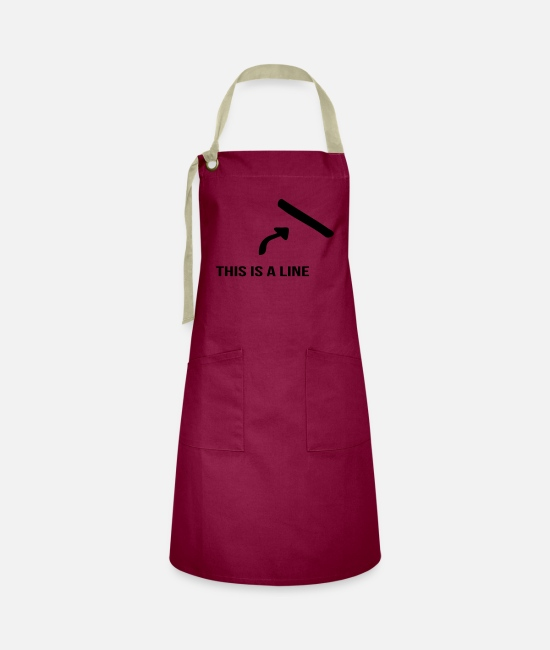 Arrow Aprons - That's a line - Artisan Apron burgundy / desert sand