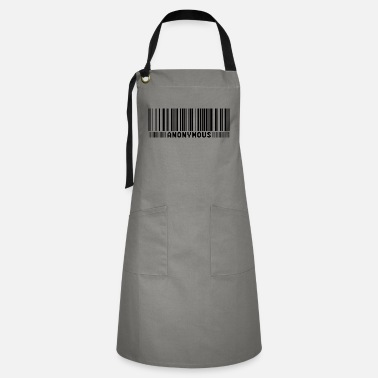 We Do Not Forgive Anonymous Barcode - We Are Legion - Shirt - Artisan Apron