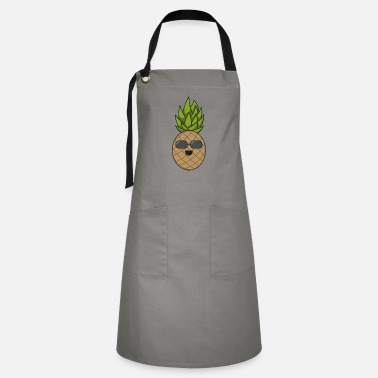 Humour Pineapple cool gift sunglasses summer fruit - Artisan Apron