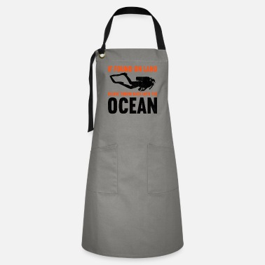 Snorkel If found on land, please throw back into the ocean - Artisan Apron