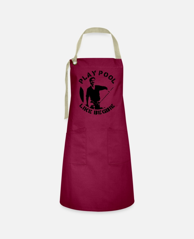 Play Aprons - Play pool and cue like Begbie - Artisan Apron burgundy / desert sand